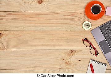 laptop, materiale, ufficio, desktop