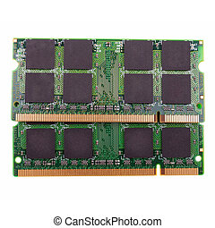 laptop memory isolated on white