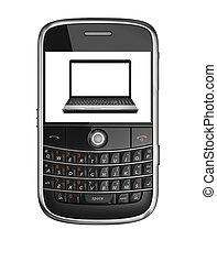 laptop, mobile phone