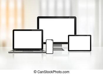 laptop, mobile, tavoletta, computer, digitale, pc, telefono