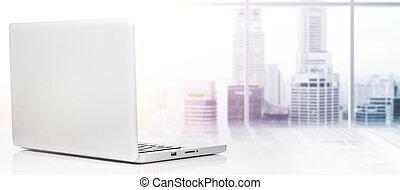 laptop, modern, edv