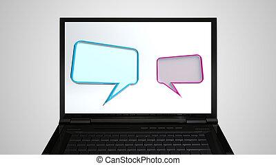laptop Monitor display conversation