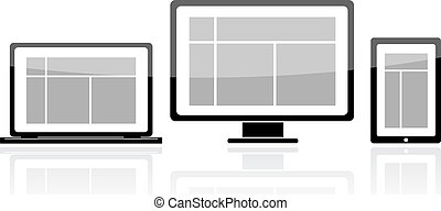 laptop monitor tablet icon