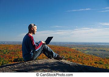laptop, natur