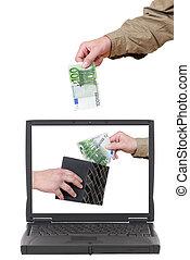 Laptop, online banking
