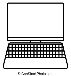 Laptop outline icon