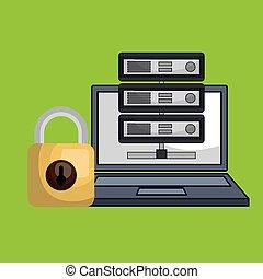 laptop padlock data base