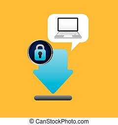 laptop padlock download data secure