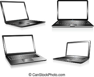 Laptop PC Computer, Notebook, Technology Electronics, Computers with blank space for your presentation message