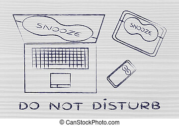 laptop, phone & tablet with snooze mode eye mask: do not...