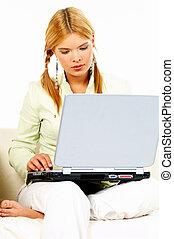 laptop, piękno