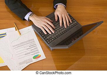 laptop, planificação, pessoas negócio