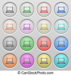 Laptop plastic sunk buttons