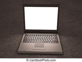 laptop, praca