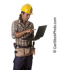 laptop, pracownik