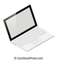 Laptop realistic isometric icon