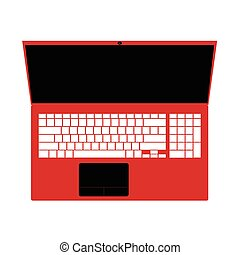 laptop red technology illustration