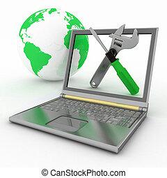 laptop, reparera