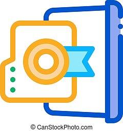 laptop screen screenshot icon vector. laptop screen screenshot sign. color symbol illustration
