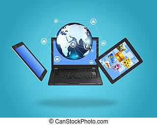 Laptop screen technology with social network structure