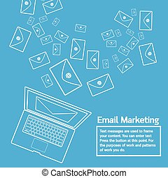 laptop send email marketing