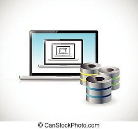 laptop server illustration design