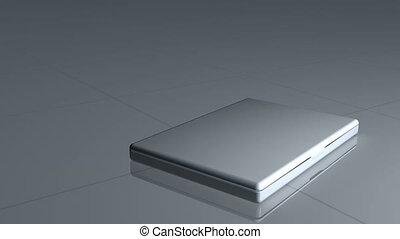 Laptop shows a video