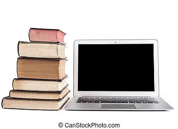 laptop, silber, freigestellt