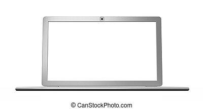 laptop, silber