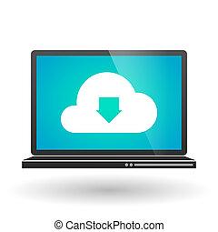 laptop, sky