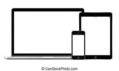 Laptop smartphone and tablet pc mockup