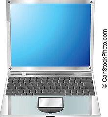 Laptop straight on illustration