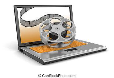 laptop, striscia cinematografica