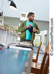 laptop, student, bibliotek, stöld
