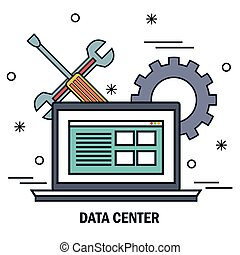 laptop support work data center server isolated