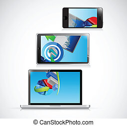 laptop, tablet and phone business concept