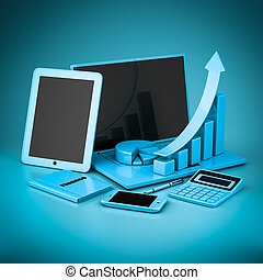 Laptop, Tablet PC and Smartphone