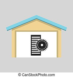 laptop technology cpu gear icon graphic vector illustration...
