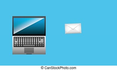 laptop technology digital sending email