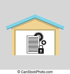 laptop technology work security private icon graphic