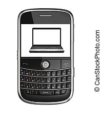 laptop, telefone móvel