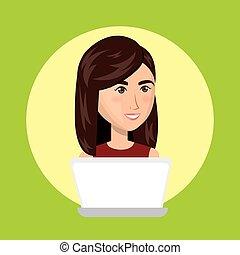 laptop user avatar character