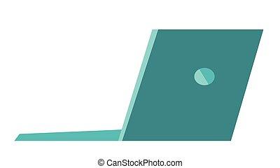 Laptop vector cartoon illustration.
