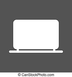 Laptop, computer, business icon vector image.Can also be...