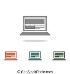 laptop vector icon isolated on white background