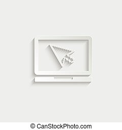 Laptop vector icon/ notebook vector icon.