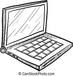 Laptop vector sketch