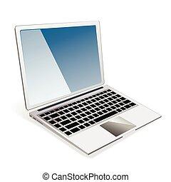 laptop, vektor, abbildung