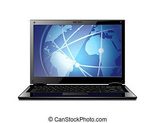 laptop, wektor