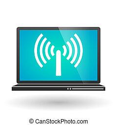 Laptop with an antenna